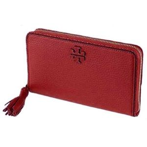 Tory Burch Taylor Zip Continental Wallet Red